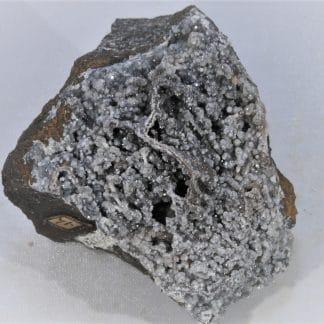 Hématite avec Quartz concrétionné, Framont, Vosges, Bas-Rhin.