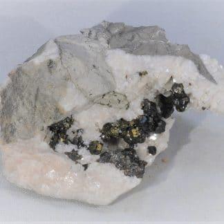 Sphalérite (Blende) et Chalcopyrite, Var, France.