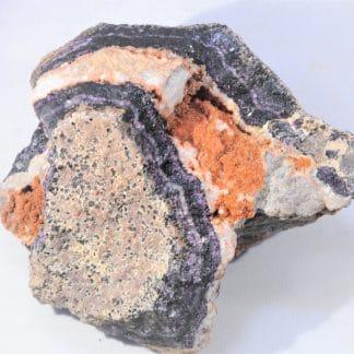 Fluorine hématoïde et Fluorine violette, Bauzot, Grury, Saône-et-Loire.
