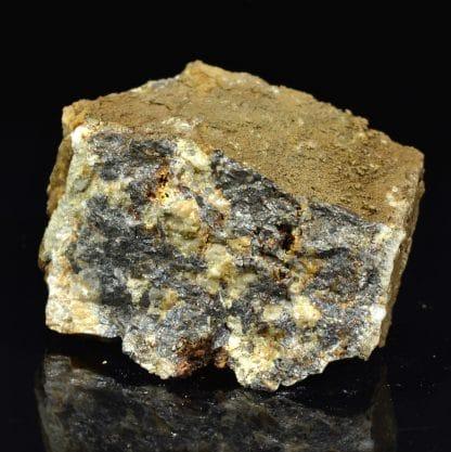 Arsénopyrite, scorodite, Tournebise, Pontgibaud, Puy-de-Dôme.
