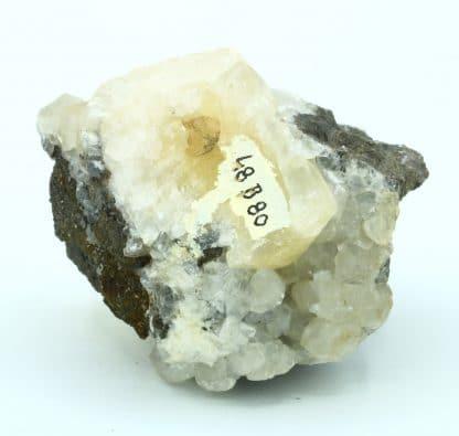 Calcite, dolomite, sphalérite, mine de Trèves, Gard.
