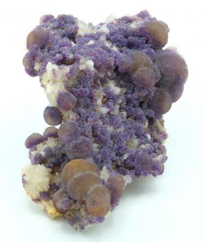 Fluorite bicolore sur quartz de Buxières-les-Mines, Allier (03).