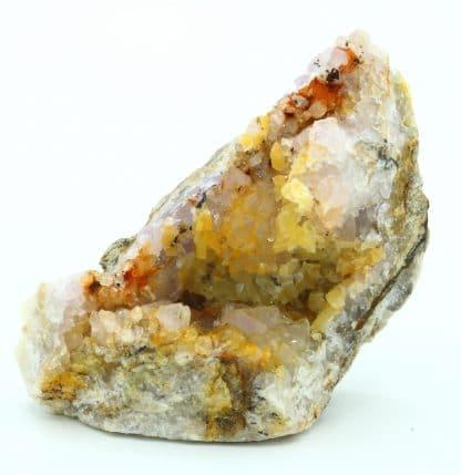 Quartz améthysé, calcite, l'Argentolle, Saône-et-Loire, Morvan.