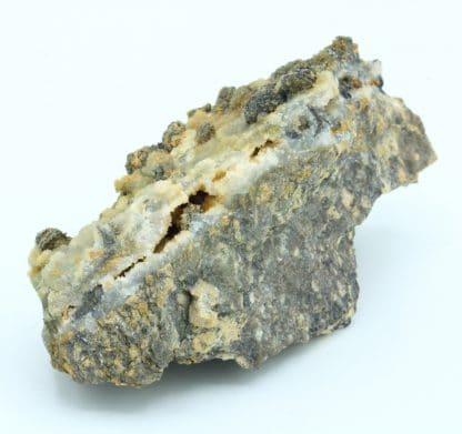 Arsénopyrite sur gangue de la mine de Fontsante, Var.