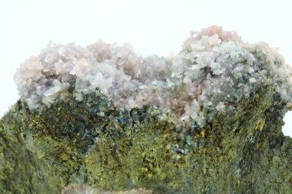 Calcite rose sur chalcopyrite, Laguépie, Tarn-et-Garonne.