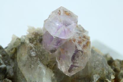 Quartz améthyste, Passage des cristaux, Massif du Beaufortain, Savoie.