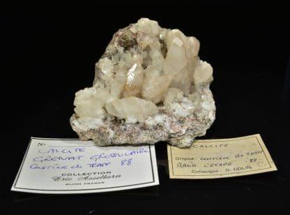 Calcite et grenat grossulaire, Raon L'Etape, Vosges.
