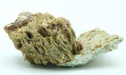Axinite et épidote, col de l'Infernet, Isère.