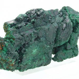 Cristal d'azurite pseudomorphosée en malachite, Maroc.