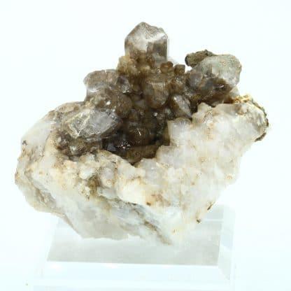 Hématite, quartz, rutile, massif de la Lauzière, Savoie.