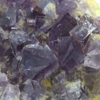 Fluorite violette, Groverake Mine, County Durham, Royaume-Uni.
