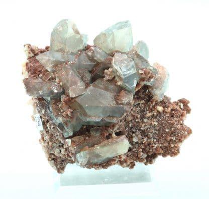 Baryte bleue sur dolomite, Frizington Mine, Cumbria, Royaume-Uni.