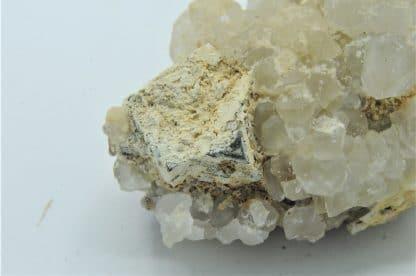 Galène, quartz et hydroxyapatite, L'Argentolle, Saône-et-Loire.
