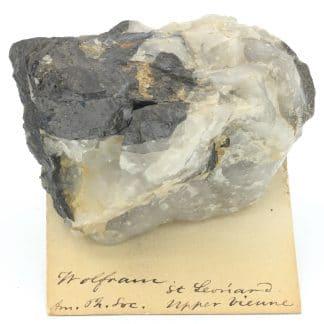 Wolframite et quartz, Puy-les-Vignes, Saint-Léonard-de-Noblat, Haute-Vienne.