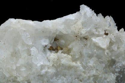 Calcite et Pyrite, mine de fer de Piennes, Meurthe-et-Moselle.