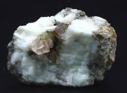 Fluorine en cristaux et calcite, Propiac, Drôme.