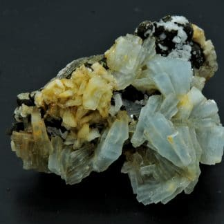 Barytine bleue, Vieux Travaux, Mine des Malines, Saint-Laurent-le-Minier, Gard.