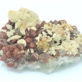 Quartz hématoïde et Calcite, L'Argentolle, Saône-et-Loire, Morvan.