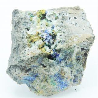 Azurite, Bindheimite, Tetrahèdrite, Arsénopyrite, Le Mas Dieu, Gard.