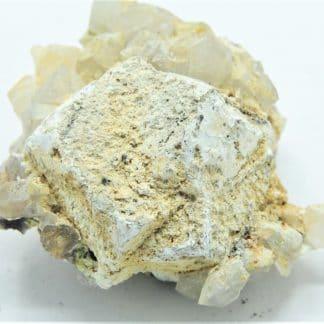 Galène, pyromorphite, et hydroxyapatite, L'Argentolle, Saône-et-Loire.