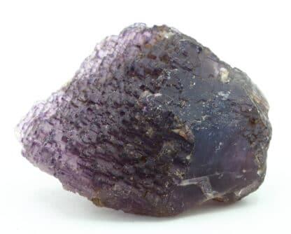 Cristal de fluorite violette, mine de Rancennes, Ardennes.