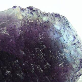 Fluorite violette et bleue, mine de Rancennes, Fromelennes, Ardennes.