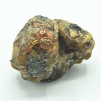 Plumbogummite, mine de Huelgoat, Finistère, Bretagne.