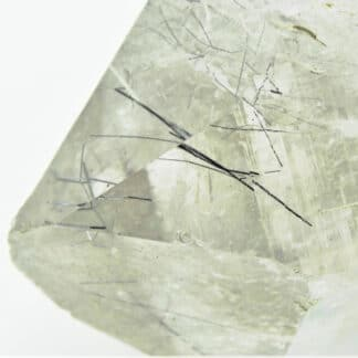 Quartz à inclusions de Ménéghinite et Stibiconite, La Lauzière, Savoie.