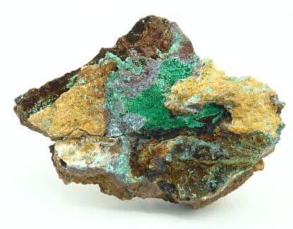 Malachite, Cuprite, Aurichalcite, carrière de Laguépie, Tarn-et-Garonne.