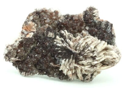 Baryte et quartz hématoide, Voltennes, Saône et Loire.