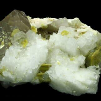 Cleavelandite, mica et quartz, Saint-Chély-d'Apcher, Lozère.