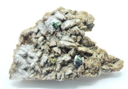 Aragonite et Chalcopyrite, mine Saint-Pierre, Sainte-Marie-aux-Mines, Haut-Rhin.