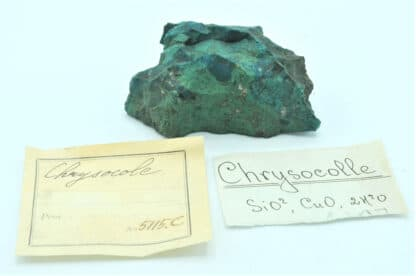 Chrysocole et Malachite de Russie, avec étiquette Louis Vésigné.
