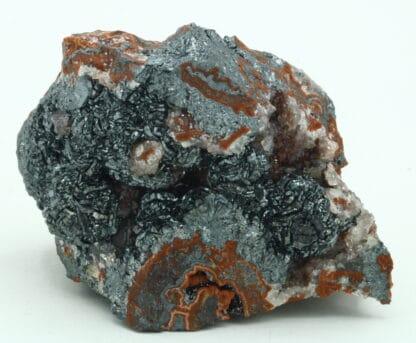 Hématite et quartz sur jaspe, Saphoz, Faucogney, Haute-Saône.