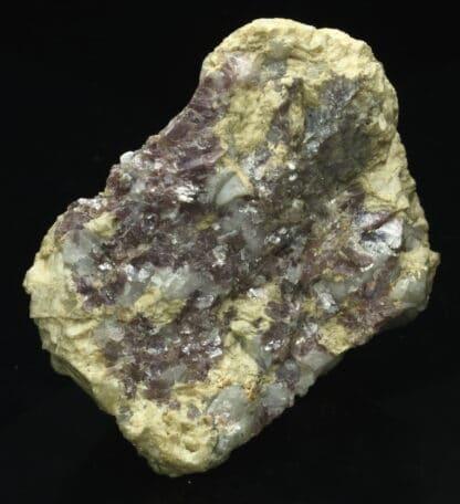 Lépidolite violette d'Ambazac dans la Haute-Vienne.