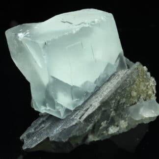 Fluorine sur matrice, mine de Mont-Roc (Montroc), Tarn.