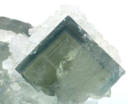 Fluorite et quartz, Le Burg, près d'Alban dans le Tarn.