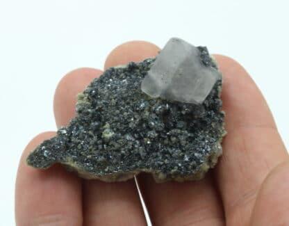 Fluorite violette sur hématite, Glacier de Talèfre, Chamonix, Haute-Savoie.