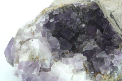 Géode de Fluorite mauve, mine de Durfort, Gard.