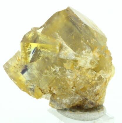 Fluorite maclée, carrière de Vensat, Puy-de-Dôme.