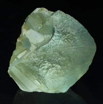Fluorite bleue, (fondue), mine d'Embournegade (Tarn).