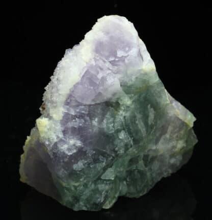 Fluorite violette sur quartz et fluorite, Fontsante, Var.