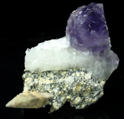 Calcite, fluorite et quartz, Filon Sud, Fontsante, Var.