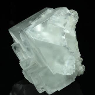 Cristal de Fluorite blanche, mine de Montroc, Tarn.