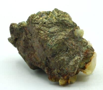 Chalcopyrite et baryte, mine de Marsanges, Langeac, Haute-Loire.