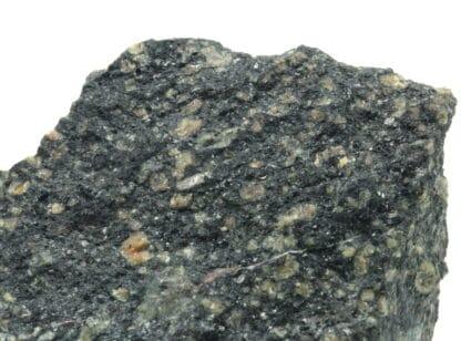 Cassitérite et magnétite dans microgranite, Mine du Charrier, Laprugne.