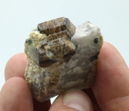 Cassitérite, carrière de Quily, Pontivy, Morbihan, Bretagne.