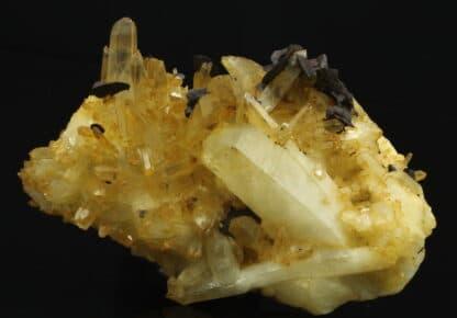 Quartz et Sidérite, Mine de Pierre Rousse, Vizille, Isère.