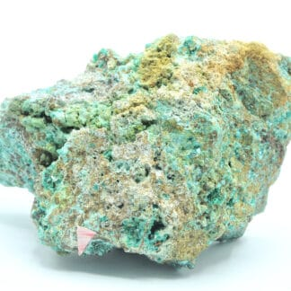 Chalcophyllite et Cornubite, Mine de Salsigne, Aude.