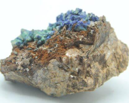 Azurite, Aurichalcite et Tétraédrite, Usclas du Bosc, Loiras, Hérault.